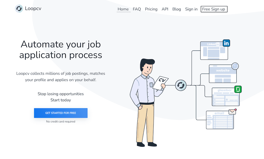 automate your job search process with loopcv
