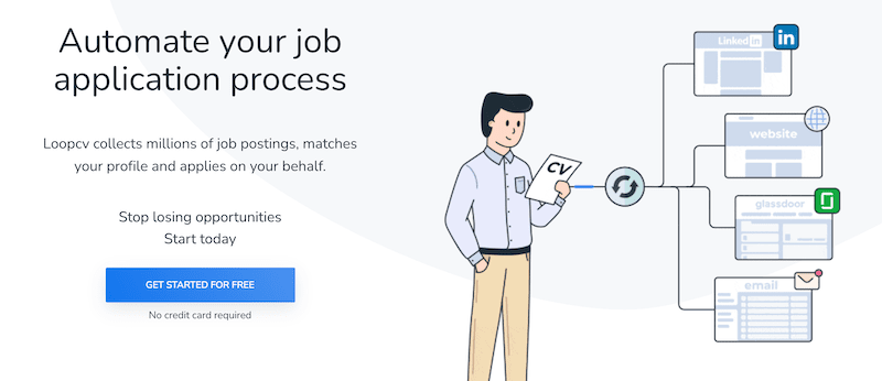 with loopcv you can create an account to send out cover letters automatically