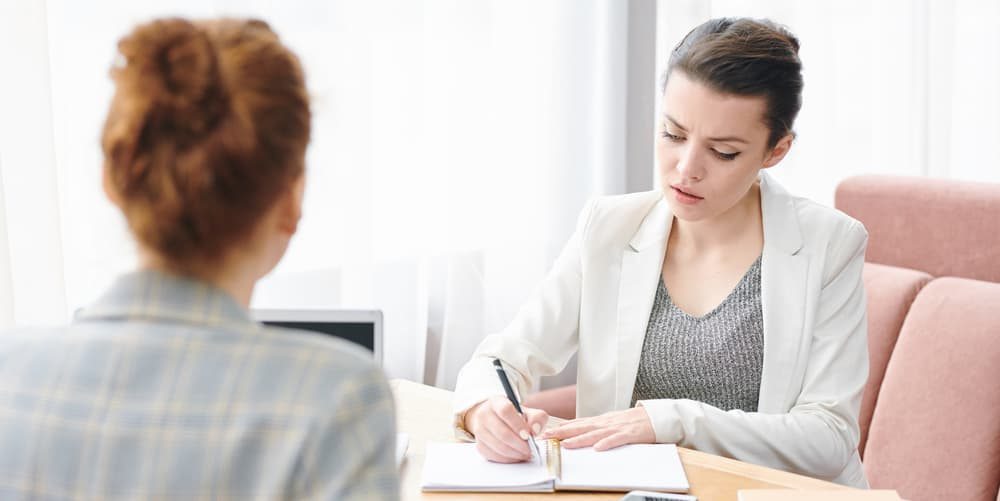 is it ok to take notes during a job interview