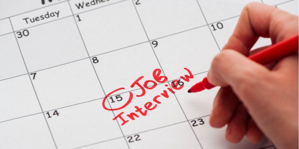 schedule time job interview calendar date