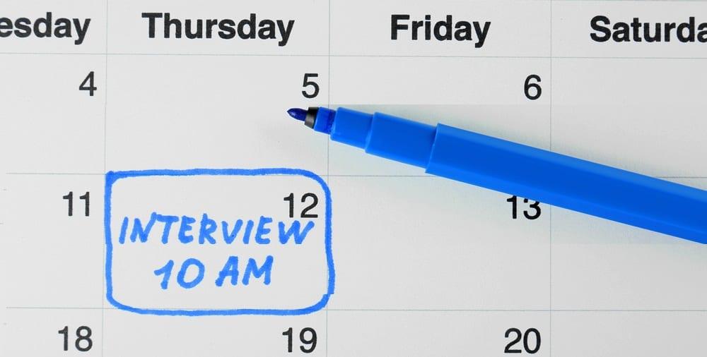 job interview time calendar date scheduling
